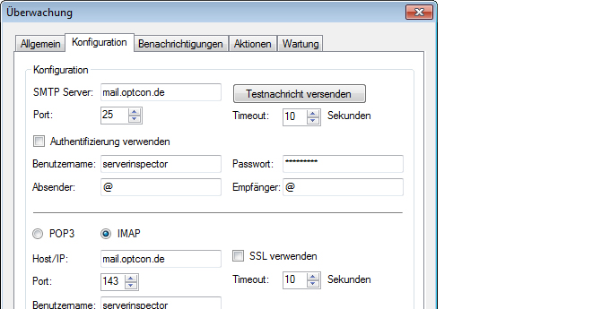 Server Inspector Tour E-Mail Route